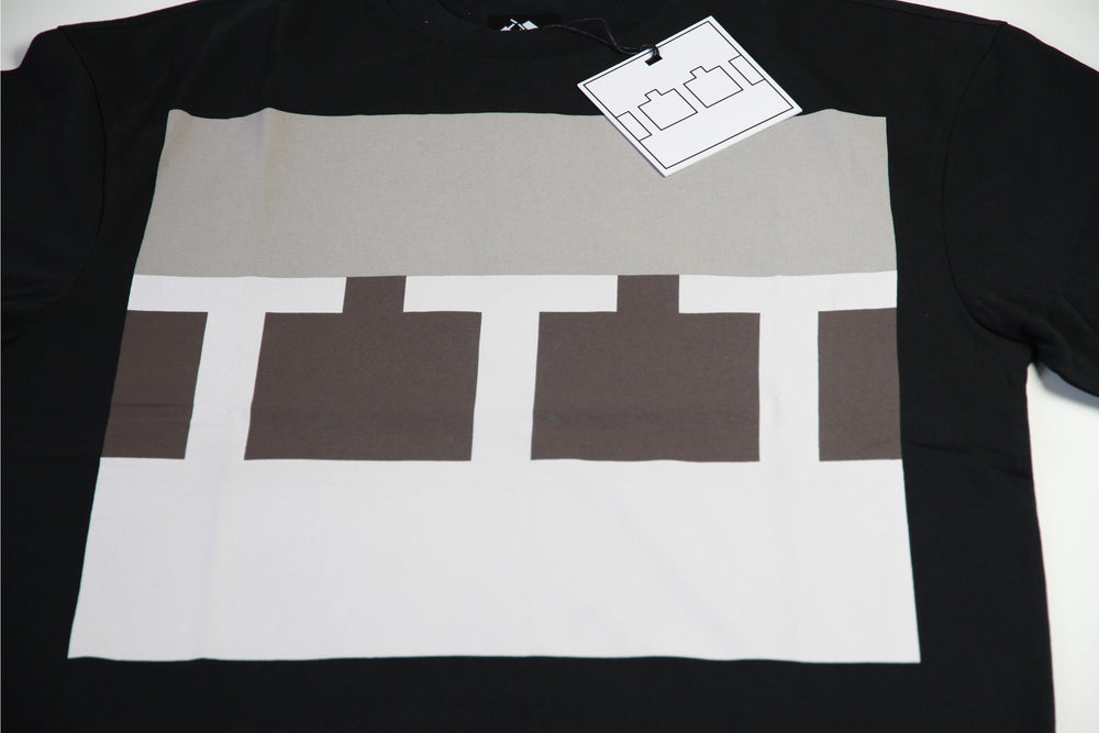 The Trilogy Tapes Block Tee - Black