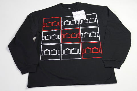 The Trilogy Tapes Multi Logo LS - Black
