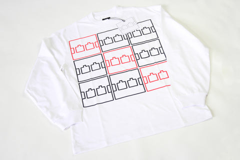 The Trilogy Tapes Multi Logo LS - White