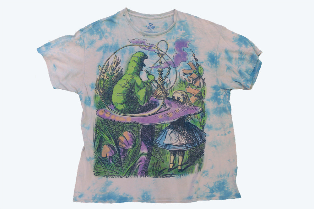 "Vintage Alice in Wonderland ""Liquid Blue"" T-Shirt"