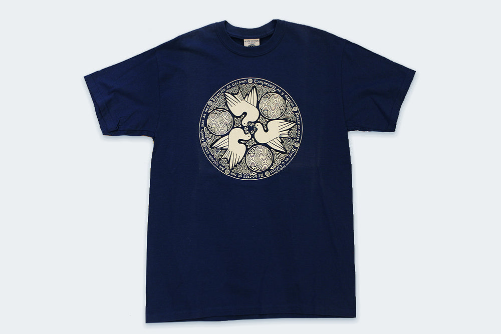 Vintage Celtic Dove Peace on Earth T-Shirt