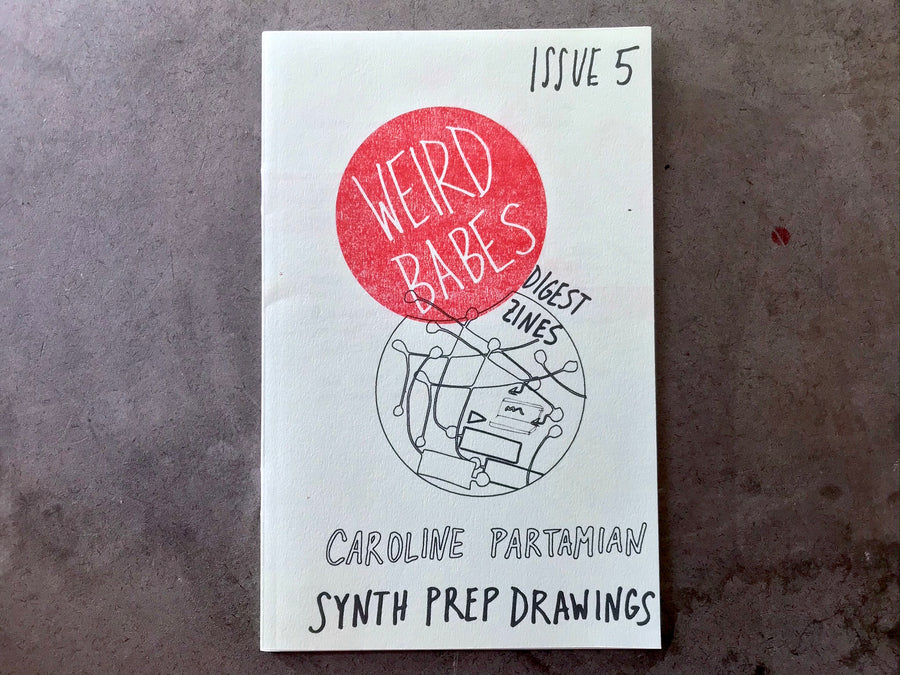 Weird Babes Issue 5: Synth Prep Drawings