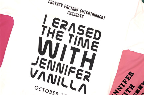 "Jennifer Vanilla ""I Erased The Time With Jennifer Vanilla"" Short Sleeve Tee"