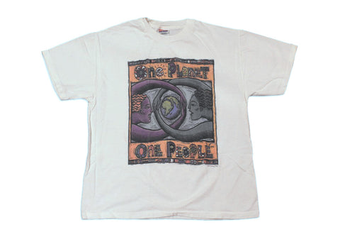 Vintage One Planet One People Human-I-Tees T-Shirt