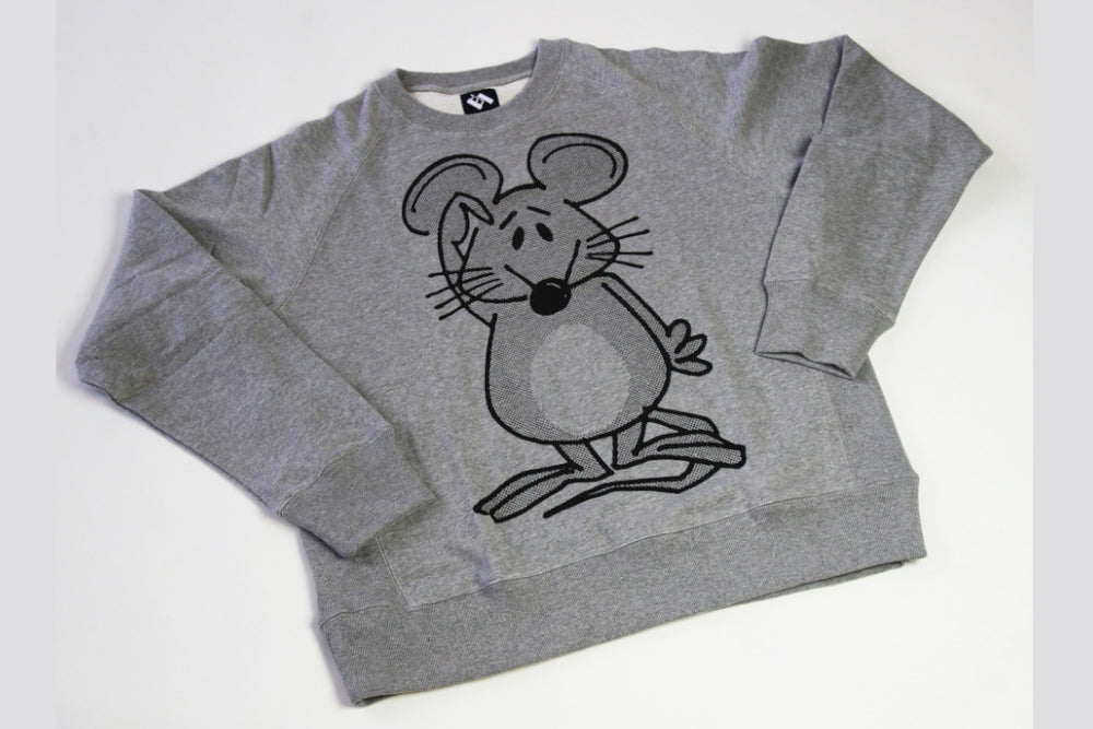The Trilogy Tapes Mouse Crew Heather Grey