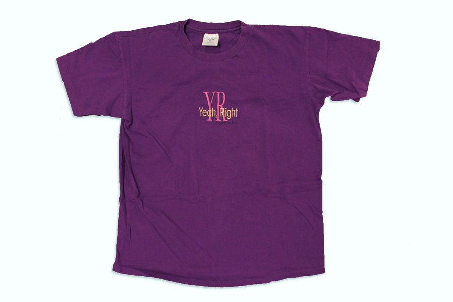 Vintage Yeah, Right Embroidered T-Shirt