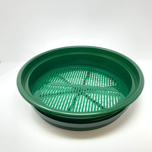 "COLORED Acrylic Round (11"") Mealworm Pupae Sifting Tray"