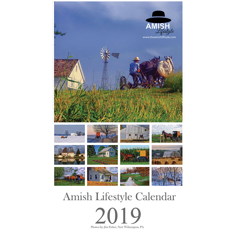 2019 Amish Lifestyle Wall Calendar