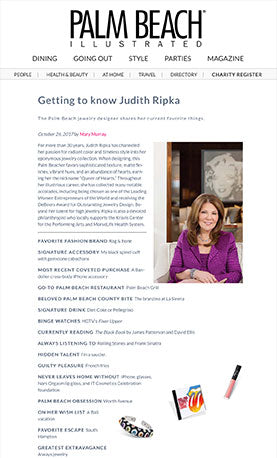 Getting to know Judith Ripka - Palm Beach illustrated