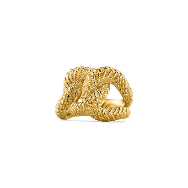 18K Eternity Three Link Band Ring