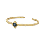 RIPKA Angelica Cushion Shape London Blue Topaz & Bezel Set Diamond Bracelet