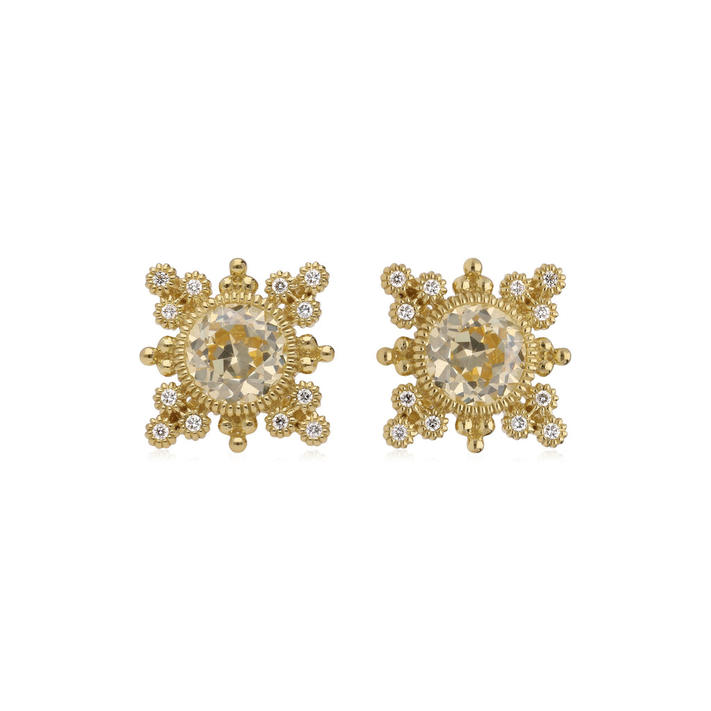 p wh gold canary diamond stud yellow earrings