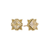 RIPKA Angelica Step Cut Canary Crystal Stud Earrings