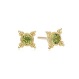 RIPKA Juliette Bezel Set Peridot Stud Earrings