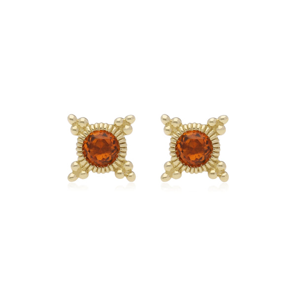 RIPKA Juliette Bezel Set Citrine Stud Earrings