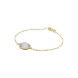 RIPKA Luna Round Checkerboard Mother of Pearl Doublet Bracelet with Diamond Accents