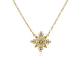 RIPKA Angelica Round Canary CZ & Bezel Set Diamond Pendant