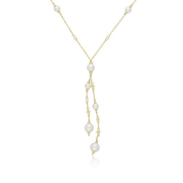 RIPKA Bella Double Y Pearl Necklace