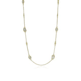 JUDITH RIPKA 18K LTD Oasis Mother of Pearl & White Topaz Long Station Chain Necklace