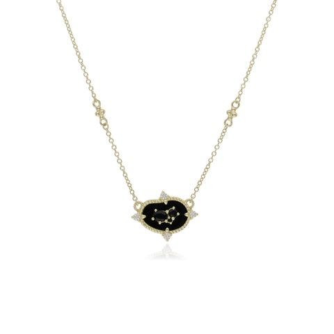 JUDITH RIPKA 18K LTD Oasis Black Onyx & Black Spinel Small East-West Pendant with Diamond Accents