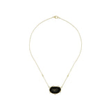 JUDITH RIPKA 18K LTD Oasis Black Onyx & Black Spinel Large East-West Pendant with Diamond Accents