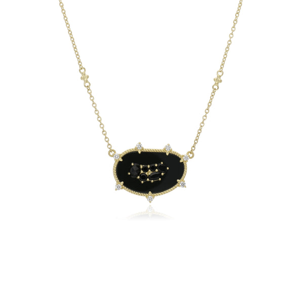 18K Oasis Black Onyx & Black Spinel Large East-West Pendant with Diamond Accents