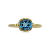 RIPKA Boca Cushion Shape London Blue Topaz Stack Ring