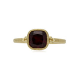 RIPKA Boca Cushion Shape Rhodolite Stack Ring