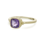RIPKA Boca Cushion Shape Amethyst Stack Ring