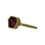 RIPKA Boca Kite Shape Rhodolite Stack Ring