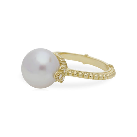 RIPKA Bella Pearl Ring with Diamond Accents
