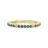 RIPKA La Petite London Blue Topaz Pavé Stack Band Ring