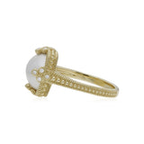 Bella Round Cultured Mabe Pearl Ring with Diamond Accents