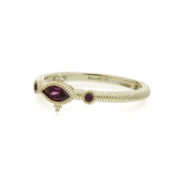 RIPKA La Petite Rhodolite Marquise and Round Stone Ring