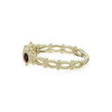 RIPKA La Petite Oval Rhodolite Band Ring