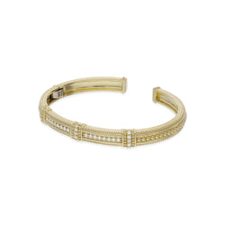 Estate Pia Cuff with Three Diamond Pavé Stations