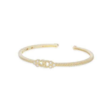 RIPKA Juliette Linked Cuff with Bezel Set Diamonds