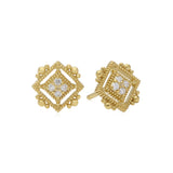 RIPKA Juliette Pavé Diamond Cube Stud Earrings