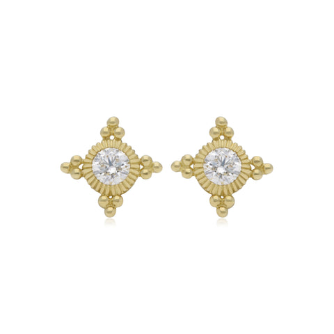 RIPKA Juliette Bezel Set Diamond Stud Earrings