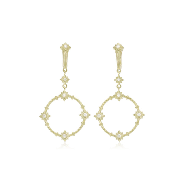 RIPKA Starlight Forward Facing Diamond Hoop Earrings