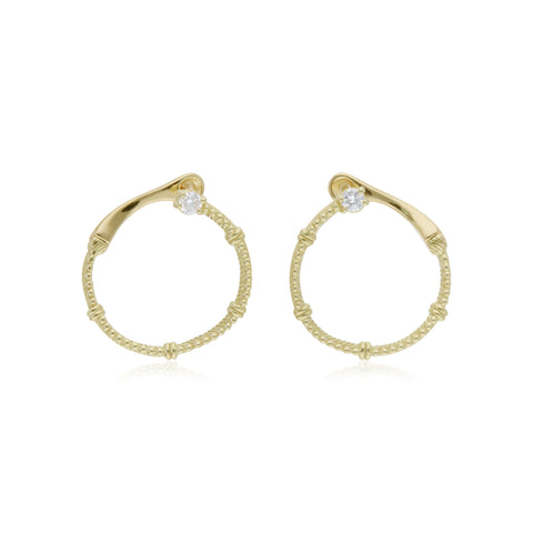 Little Luxuries Front Hoop Diamond Earrings