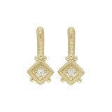 RIPKA Juliette Diamond Cube Drop Earrings