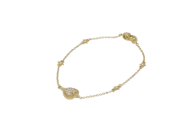 Little Luxuries Pavé Diamond Heart Bracelet