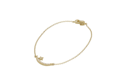 Little Luxuries Pavé Diamond Moon & Star Bracelet