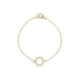 RIPKA Juliette Open Circle Bracelet with Diamond Accents