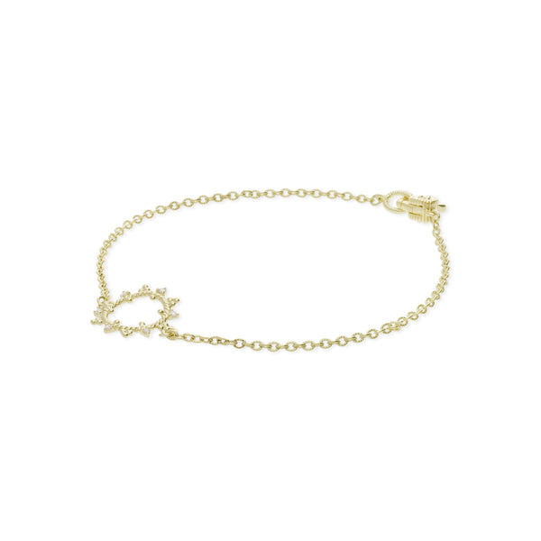 Little Luxuries Open Circle Bracelet with Diamond Accents