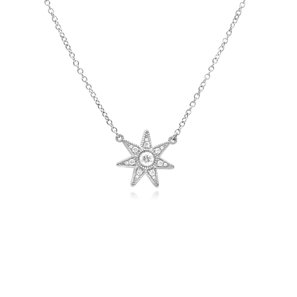 Little Luxuries Star Pendant with White Topaz