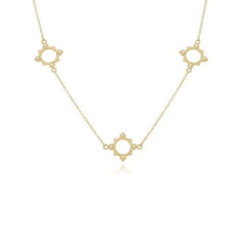 RIPKA Juliette Round Gold & Diamond Station Necklace