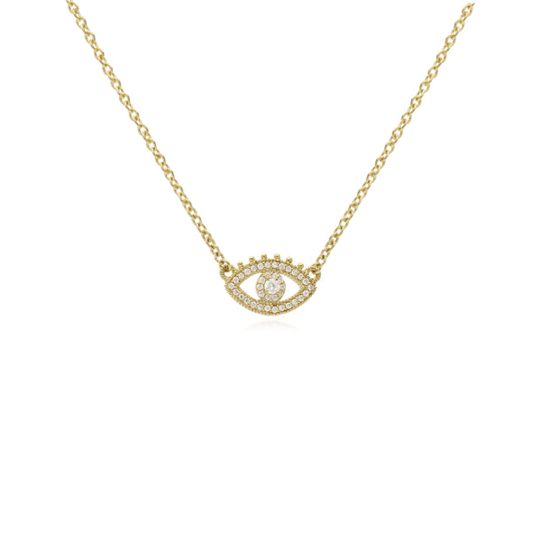 RIPKA Juliette Pavé Diamond Evil Eye Pendant