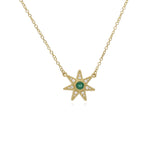 Little Luxuries Emerald & Pavé Diamond Star Pendant